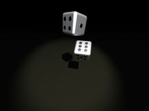 Dice. Pair of dice on dark background royalty free illustration