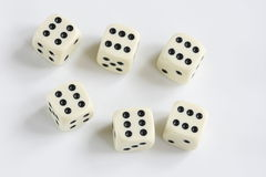 Dice. On a white background Stock Photo