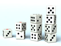 Dice. A lot of dice for a background Royalty Free Stock Images