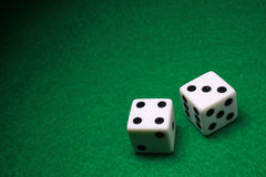 Dice. A shot of a pair of dice Stock Photo