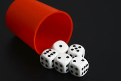 Dice. On the black background Stock Photos