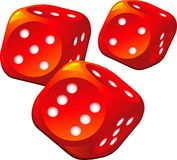 Dice. Vector image of dice over white. EPS 8 Royalty Free Stock Images
