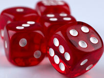 Dice. Some dice for playing luck games Stock Photography