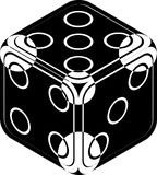 Dice. Black and white dice image royalty free illustration