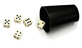 Dice. And cup royalty free stock photo