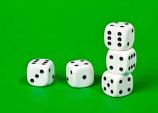 Dice. Five dices isolated on a Royalty Free Stock Image