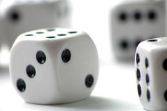 Dice. On white table royalty free stock image
