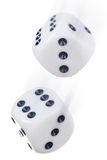 Dice. Flying dice. Shat was made in a studio Stock Photo