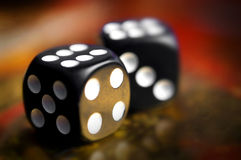 Dice. On a soft background color Stock Image