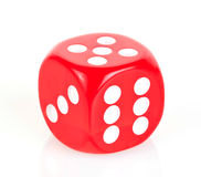 Dice. Red dice isolated on white background