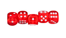 Dice. Red dice isolated on white background Royalty Free Stock Photo