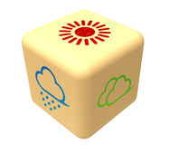 Dice. The Weather Forecast dice on white background Stock Photography