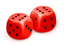 Dice. Computer illustration, isolated on the white stock illustration
