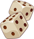 Dice. Vector illustration, casino game, dice Royalty Free Stock Photo