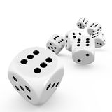 Dice. Seven dice on white background Stock Image