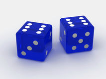 Dice. Very beautiful three-dimensional illustration. Dice. 3d Stock Image