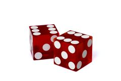 Dice. Close up of 2 Dice with clipping path Stock Image
