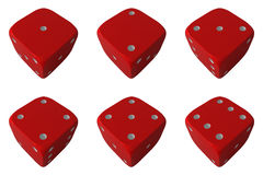 Dice. Six position of the dice Royalty Free Stock Images