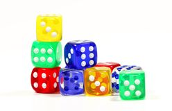 Dice. Photo of Various Color Dice - Game Related Stock Image