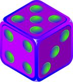 Dice. Isolated stock illustration