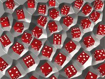 Dice. Many dice Stock Photo