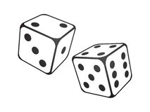 Dice. Vector illustration of dice on the white background Royalty Free Stock Images