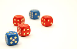 Dice 4 Stock Photos
