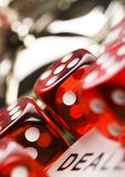 Dice. Casino - a place where you can win or lose money Stock Photography