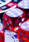Dice. Casino - a place where you can win or lose money Royalty Free Stock Images