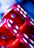 Dice. Casino - a place where you can win or lose money Royalty Free Stock Photography