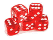 Dice 5 sixes Stock Images