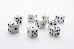 Dice. On White Seamless Background Paper Stock Image