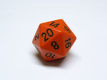 Dice. An isolated twenty sided dice royalty free stock image