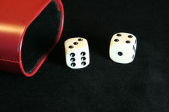 Dice. Roll of the dice - lucky seven Royalty Free Stock Photography
