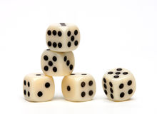 Dice. Close up on a white background stock photo