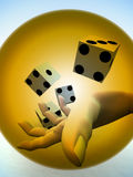 Dice 78. A image of a set of dice that have been thrown, it would be suitable for images based on betting Royalty Free Stock Photo