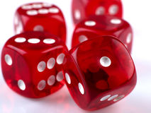 Dice. Some dice for playing luck games Royalty Free Stock Images
