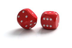 Dice. Isolated on white with clipping path vector illustration