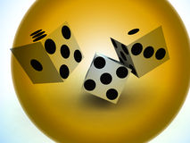 Dice 91. A image of a set of dice that have been thrown, it would be suitable for images based on betting Stock Image