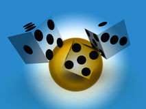 Dice 93. A image of a set of dice that have been thrown, it would be suitable for images based on betting Royalty Free Stock Image