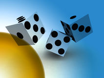 Dice 95 Royalty Free Stock Photography