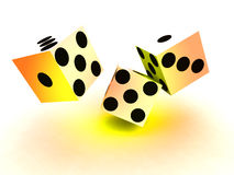 Dice 99. A image of a set of dice that have been thrown, it would be suitable for images based on betting Royalty Free Stock Photography