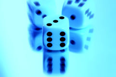 Dice abstract 2 Stock Photo