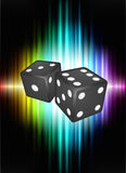 Dice on Abstract Spectrum Background Royalty Free Stock Images