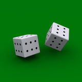 Dice with all sides sixes Stock Photography