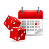 Dice And Calendar Royalty Free Stock Images
