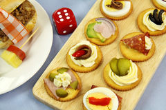 Dice And Finger Food Stock Photo