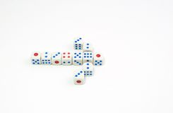 Dice background Stock Photography