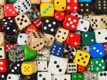 Dice background Stock Photos