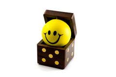 dice with ball smile Stock Images